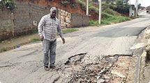 Vereador Gonzaga pede opera��o tapa-buraco no Jardim Concei��o