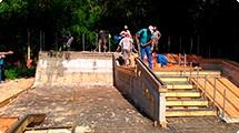 Avançam obras da área de lazer com pista de skate, construída com recurso do DADETUR